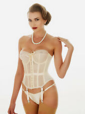 Vintage Style What Katie Did Merry Widow Nude Lana Basque Corset 36B