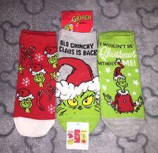 Primark Grinch Socks X 3 NEW Women's Size 4-8 UK Christmas Xmas Grinchy Claus