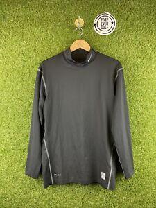 NIKE GOLF, Size XXL, Black, LS Collared Golf Base Layer,*EX COND*