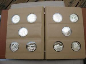 RARE SET OF10 HARLEY STURGIS RALLY MT RUSHMORE 1987 TO1996 1OZ PURE SILVER COINS