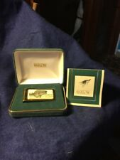 Barlow Money Clip Scrimshaw Hand Carved Largemouth Bass, Gold Tone, Box/Papers