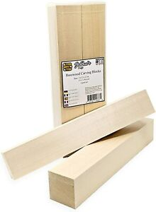Basswood Soft Lightweight Carving Blocks Wood Whittling 2 Pack