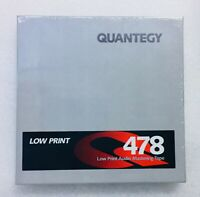 """Quantegy Low Print 478 Audio Mastering Tape 1/4"""" X 600 Factory Sealed"""