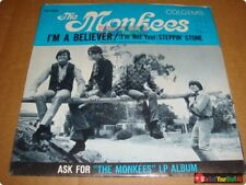 The Monkees, Picture Sleeve: I'm A Believer/Steppin' Stone • Colgems 66-1002  45