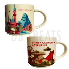 Starbucks You Are Here Exclusive Disney Parks Disneyland & CA Adventure Mug Set