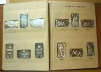 Crown Mint Beauties Full Set Silver Art Bar 12 Month In OG Album 12 - 1 oz Bars!