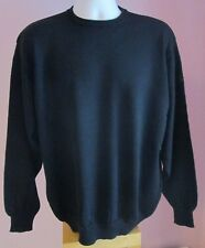 VTG Ladies Unbranded Black Crew Neck Acrylic Mix Thin Knit Jumper Size XXL (b3)