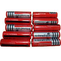 10pcs 3.7V 18650 Rechargeable Li-ion 6000mAh Battery For Flashlight Torch RC