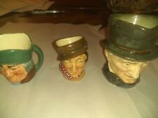 Lot of 3 Royal Doulton Toby Character two Mini Mugs/Jugs one large.
