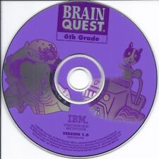 Brain Quest 6Th Grade Multimedia Cd - 1200 Fun Questions Kids Learn Home School