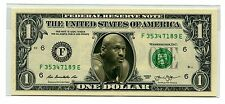 Michael Jordan US$1 Bank Note Mint Condition Genuine US Currency