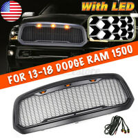 For 2013-2018 Dodge Ram 1500 Front Grille ABS Honeycomb Bumper Grill With