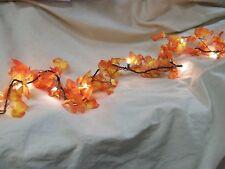 Fall Leaves Light String Set Autumn Leaf Garland Harvest Decor Thanksgiving Lite