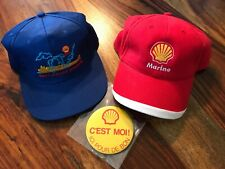 2 collectible Shell marine division hat + 1 pinback button