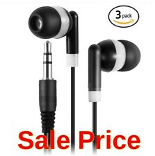 Set 3 Earbuds Earphone 3.5mm Headphones, Android, iPhone, Kids, Tablet, Cheap