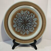 """Franciscan USA NUT TREE Dinner Plate 10 1/2""""  Brown Blue"""