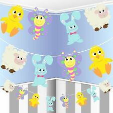 Multicolour Easter Animal Paper Garland Bunting Hanging Decoration - 2.5m