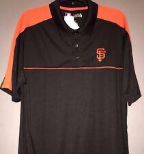 San Francisco Giants Large Black Orange Polo Shirt MLB Majestic New