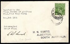 More details for australia air mail first flight cover pilot signed mt magnet alberton 1935 ep443