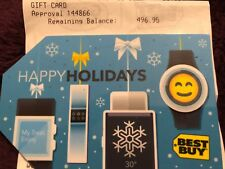 BEST BUY Store Gift Card $496.95 Amount