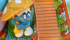20118 schtroumpf champignon smurf puffo Pitufo puffi schtroumpfette  rarissime