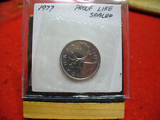 1977 CANADA QUARTER  DOLLAR TOP GRADE  25 CENT PIECE  77  PROOFLIKE  SEALED