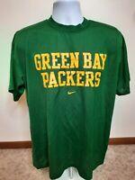 Green Bay Packers NFL Nike Dri-Fit Mesh Football Men's Nike T-Shirt Green Large