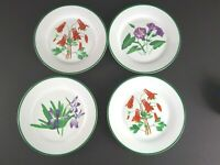"Lot Of 4 Salad Bread Plates 7.5"" National Wildlife Federation Floral Flowers..."