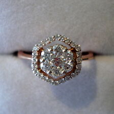 0.48ct Certified SI Clarity Diamond Rose Gold Engagement Ring