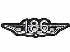 186 HR to HK embroidered cloth patch.   C010501