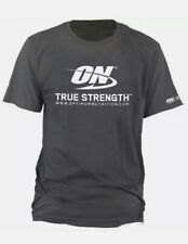 Optimum Nutrition T-Shirt Dark Grey ON True Strength in orginal packing Size L
