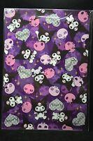 Sanrio Kuromi A4 Clear File Folder Skull Purple