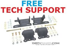 2WD 2 Door Blazer S10 LS 82-04 Adjustable Conversion Mounts And Rubber Mounts PC