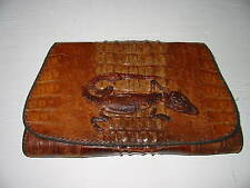 New listing Vintage Alligator Clutch Purse With 4 Compartments