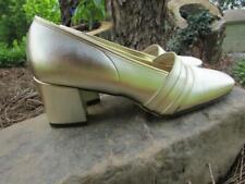 Womens Vintage 60s 70s gold heels made in Japan Tempters sz 7 metallic