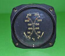Vintage Aircraft Edison dual temperature gauge