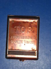 VINTAGE TOP TOBACCO ADVERTISING CIGARETTE ROLLING MACHINE COPPER PLATE AS IS