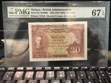 1941 20cent Malaya PMG67