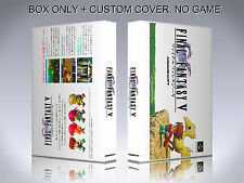 FINAL FANTASY 5. JAPAN VERSION. Box/Case. Super Nintendo. BOX + COVER. NO GAME.
