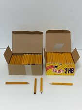 LOT 285 Golf Pencils Eagle Fabre-Castell Pre-Sharpened Yellow 2 Boxes Short Half