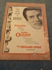 BEGGAR'S OPERA(1953)LAURENCE OLIVIER ORIGINAL PRESSBOOK