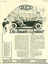 Publicité Ancienne automobile Duco 1925  issue de magazine