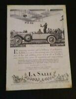 Vintage Cadillac La Salle Automobile Car Advertisement 1927 Theatre Magazine Ad