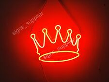 """New Red Crown Neon Sign Acrylic Gift Light Lamp Bar Room 14""""x10"""""""