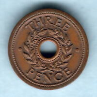 Australia - Internment Camps. Threepence.. CAMPS over CAMP.  aU-UNC  Much Lustre