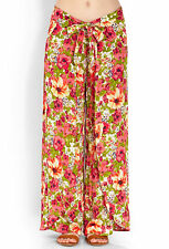 Forever21 Layered Floral Sash Pants, Size L
