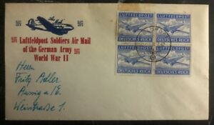 1942 Germany Feldpost Cover To Weinstrasse German Soldiers Airmail WWI