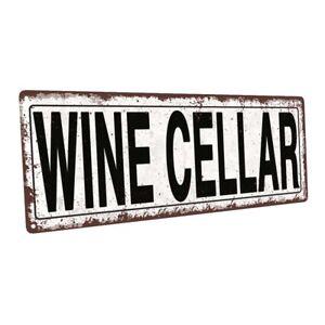 Wine Cellar Metal Sign; Wall Decor for Mancave, Den, or Gameroom