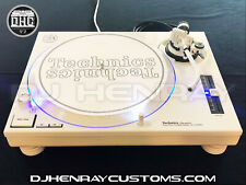 1 custom white powder coated Technics SL1200 mk2 with blue leds Halos turntable