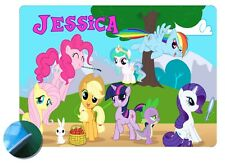 Personalised My Little Pony Placemat- EVA Sponge Backed - Wipe Clean Front
